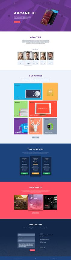Brench Portfolio PSD Template - Free Download