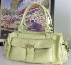Helene Walsh Leather Bag Currency  Designer Fashion Lime Women Chic Summer Chic   | eBay