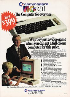 Commodore VIC 20 Computer (from 1983) I remember spending HOURS & HOURS programming PONG into this thing and having the power go out at my house when I was almost to the point where I could play the game! I didn't have the tape cassette back up system.... GRRRR....