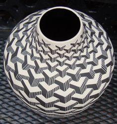 Sgraffito. Geometric pattern.