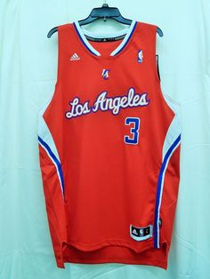 Los Angeles Clippers Chris Paul #3 Red Adidas Swingman Jersey L #NBA #LosAngelesClippers