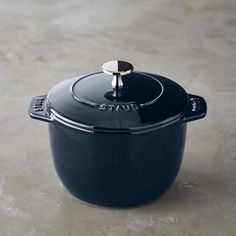 Staub's innovative enamel coating takes cast-iron cooking to the next level with improved performance, style and durability. This petite French oven is perfect for cooking grains and other sumptuous sides. The round bottom and textured lid are sim… Cooking Equipment, Cooking Tools, Cooking Rice, Staub Cookware, Iron Tools, How To Cook Rice, Cast Iron Cooking, Tecno, Cool Kitchens