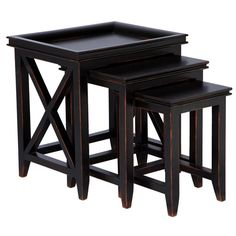 Black Nest of 3 Tables