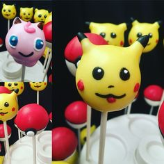 Liquor infused Pokemon Jiggly Puff and Pikachu Cake Pops Pokemon Go Inspired - The only thing you'll catch with these characters is a HUGE HANGOVER! ☺️ etsy.com/shop/candysimply