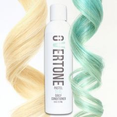 oVertone Pastel Teal Daily Conditioner is a damage-free way to add color to your hair and keep the color looking fresh 24/7.