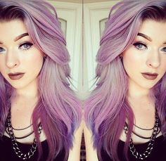 purple to light purple ombre! #purpleombre #purplehair #ashpurple #hairideas #hairstyle