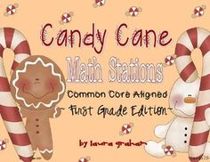 Hands-On December Math Stations For First Grade