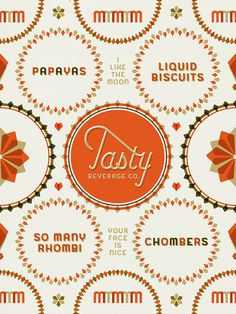 Tasty Beverage Co. by Jaime Van Wart (for my logo would love to do something with this kind of vibe)
