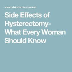 What Takes The Uterus Place After Hysterectomy