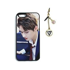 Fanstown seventeen kpop iphone6 case + Dust plug charm ❤ liked on Polyvore featuring accessories, tech accessories and phone cases
