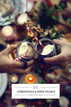 50 Christmas and New Year's table setting ideas picks by My Paradissi