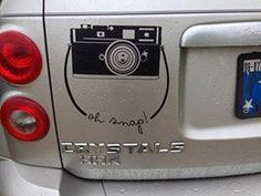 Oh snap! If you're a photographer, you need this in your studio or on your car! http://beth.uppercaseliving.net #camera #photographer #ohsnap #uppercaseliving #positivewalls