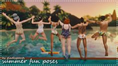 The Sims 4 [gladlypants] Summer Fun Posepack The Sims 4 Pc, Sims 4 Teen, Sims Cc, Summer Poses, Summer Fun, Teen Poses, Sibling Poses, Newborn Poses, Prom Photography Poses