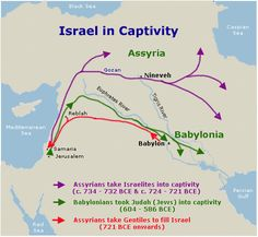 The Kingdom of Northern Israel fell in 724 BC to Assyria and the Kingdom of Judah fell in 586 BC to Babylon. The Jewish and Israelite people were taken captive and deported. The exiled Jewish people from the Southern Kingdom of Judah were allowed to return to the land of Israel and rebuild the cities and the Temple thanks to an edict of King Cyrus the Great in 537 BC - ConformingToJesus.com
