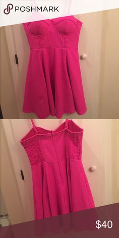 Mink Pink Dress! Mink Pink XS hot pink dress! Worn 2-3 times, great condition. I'm usually a small, so this runs a little big. Adjustable and removable straps! MINKPINK Dresses Mini