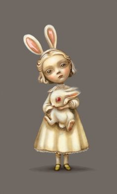 Alice in Wonderland: #Alice and the #White #Rabbit.