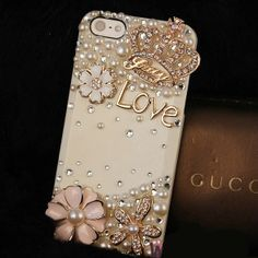 Cell Phone Bling Kits | Bling Crystal Love Crown DIY Cell Phone Case shell Cover Deco Den Kit
