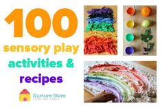 100 sensory play activities for babies, toddlers, preschool and school