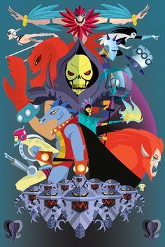 """He-Man Villains"" byPatricio Oliver"