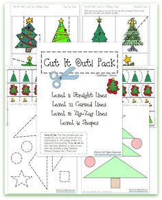 FREE Cutting Practice Pack {Christmas Cut it Out!} | This Reading Mama