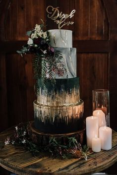 You Will Love These Dramatic Wedding Cakes - Wedding Inspiration by Sheer Ever After #weddingcakes