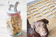 Recette facile de biscuits pour chiens maison pour gâter votre toutou! En plus, vous avez probablement déjà tous les ingrédients sous la main!