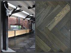 Een zwarte houten vloer is niet het eerste waar je aan denkt bij het uitzoeken van een vloer. Dit voorbeeld bewijst dat het erg mooi kan zijn! Martijn de Wit Vloeren #zwart #vloeren