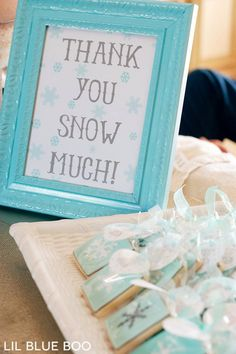 Birthday Decoration : Image : Description Thank you Snow Much Free Printable Sign for a Frozen Winter Snowflake Birthday Party via Ashley Hackshaw / Winter Birthday Parties, Frozen Themed Birthday Party, 3rd Birthday, Frozen Party Favors, Frozen Birthday Favors, Frozen First Birthday, Frozen Princess Party, Frozen Party Food, Birthday Ideas