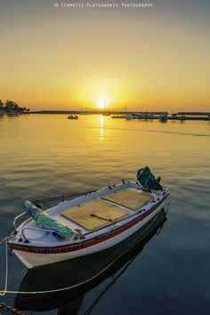 Sunset in Kyparissia, Greece