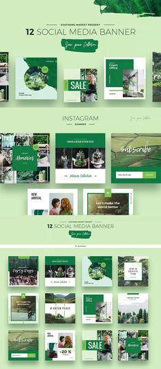 Green Peace Social Media Designs PSD Social Media Banner, Social Media Template, Social Media Design, Web Banner, Banner Template, Banners, Instagram Banner, Banner Design, Advertising