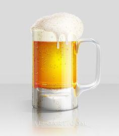 Cómo Ilustrar un Vaso de cerveza fría en Photoshop