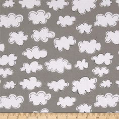 Daydream Girl Flannel Clouds Park from @fabricdotcom  Designed by Lesley Grainger Designs for Robert Kaufman this double napped (brushed on both sides) flannel is perfect for quilting and apparel. Colors include white and grey.
