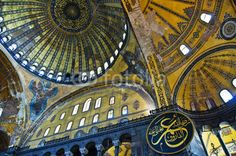 Plafond de la basilique Sainte Sophie, Istambul - Turquie