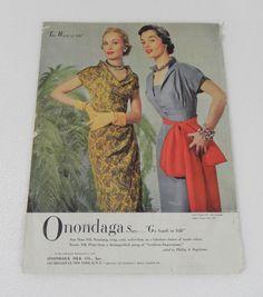 Vogue Pattern Book, December-January 1950-1951 featuring Vogue Paris Original 1107 by Lanvin and Vogue 7167   Onondaga ad