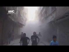 لحظات القصف الأولى على حي بستان القصر 30 5 2014