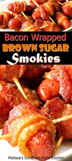 Bacon Wrapped Brown Sugar Smokies and Drink appetizers brown sugar Bacon Wrapped Brown Sugar Smokies Bacon Wrapped Lil Smokies, Bacon Wrapped Sausages, Cocktail Sausage Recipes, Cocktail Sausages, Bacon Appetizers, Appetizer Recipes, Thanksgiving Appetizers, Christmas Appetizers, Smokies Recipe