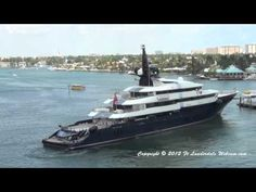 Steven Spielberg's #superyacht SEVEN SEAS departing Fort Lauderdale on 3-28-2012. If you want to see her she is back as of 4/28/12