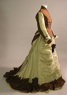 Object Name:  Dress  Producer:  Unrecorded  Date Produced:  c1874  Materials:  Silk  Brighton & Hove Museums  ID Number:  CCE0278.19