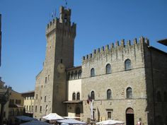 Arezzo, the majestice facade of the Town Hall