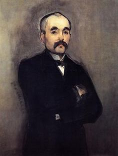 """""""Portrait of Clemenceau"""" (1879-1880), by French artist - Édouard Manet (1832-1883), Oil on canvas, 93.98 x 74.3 cm. (37 x 29.25 in.), Musee d'Orsay - Paris, France."""