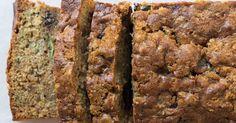 A classic zucchini bread recipe studded with raisins and walnuts.