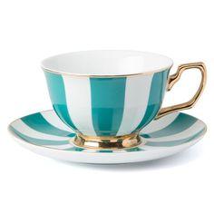 Cristina Re - Signature Stripe Emerald Teacup