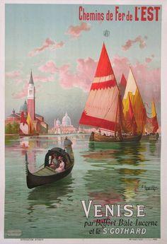 """indigodreams: """"bellasecretgarden: CHEMIN DE FER DE L'EST-VENISE-St GOTHARD (1900)"""""""