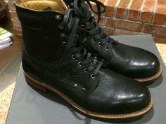 Rag & Bone Men's Black Leather OFFICER BOOT, Sz 10 Medium #ragbone #OfficerBoot