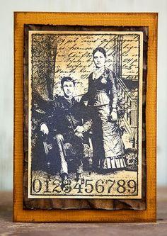 18 quick card making ideas! Darkroom Door 'Henry & Harriet' Collage Stamp DDCS007. Card created by Rachel Greig