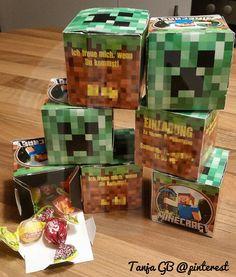 8. Geburtstag Minecraft Einladungen mit süßem Inhalt Junge #TanjaGB@pinterest