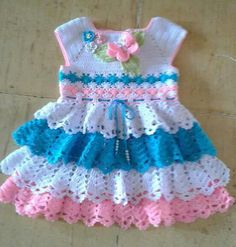 This Pin was discovered by PhyOne of the most popular categories where you can find a lot of free baby crochet patterns.Crochet Cotton Baby Dress Hat pink and white by GoingCrafty, Crochet Socks Pattern, Crochet Baby Dress Pattern, Baby Knitting Patterns, Baby Patterns, Crochet Patterns, Crochet Bedspread, Crochet Lace, Crochet Dress Girl, Baby Girl Crochet