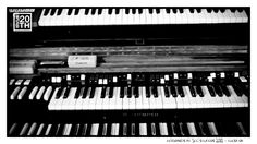 Photo 282 of 365  Keyboards at 3CG Studios 2012 - Tulsa OK    This is a shot of some of the vintage keys at 3CG studios taken by Taylor last year. Who knows the unique kind of speaker cabinet used with the B3 organ (shown here)?    #Hanson #Hanson20th
