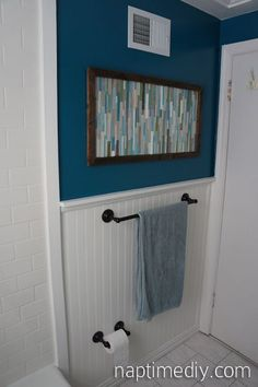 Wood Shim Wall Art Similar To Pottery Barn You Could Probably Do This With Paint Sticks