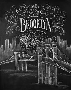 No sleep to Brooklyn! Whether one city holds your heart or traveling takes you from one to another, keep those memories in your home and display your city pride. This is the first print in our illustr